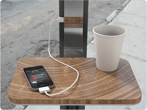 Street Charge: Solar Cellphone Chargers in NYC