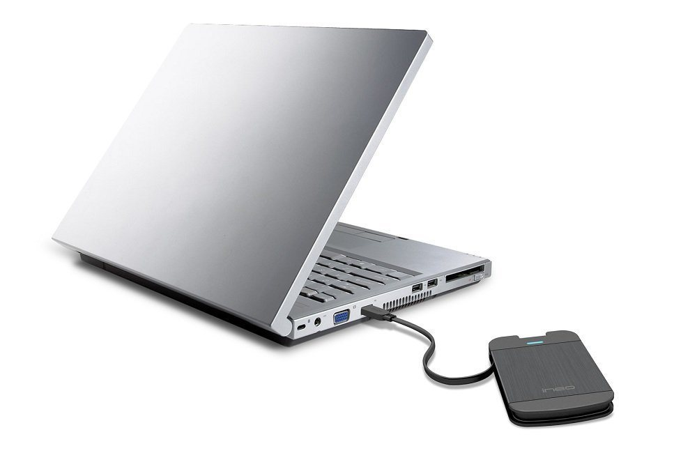 External Hard Drive Enclosure w/ Built-In USB 3.0 Cable
