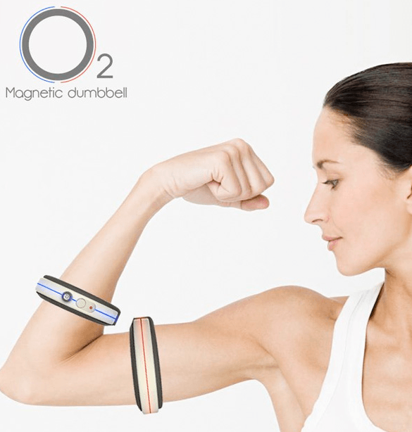 O2 Magnetic Dumbbell: Portable & Compact