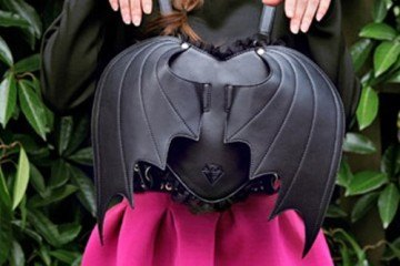 Batwings Heart Shaped Backpack For a Geeky Look