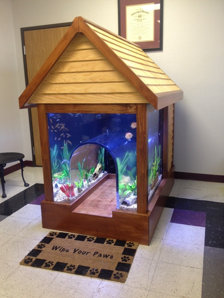 Fish tank dog house for Fish tank house