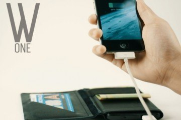 Wallet One: RFID Protection + Smartphone Charger