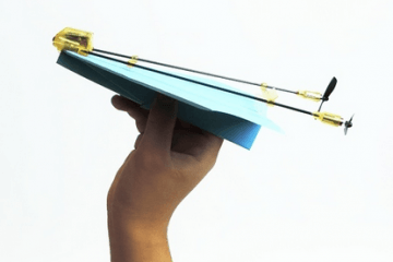 Whoopr Paper Airplane Controlled by a Smartphone