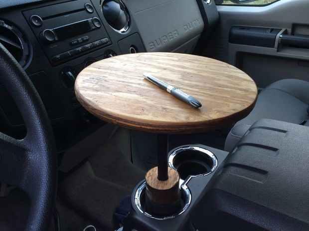 Portable Cup Holder Car Table DIY Gadgetifycom