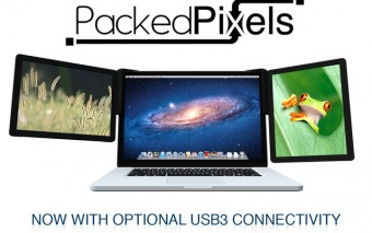 Packed Pixels Extra Monitor For Your Laptop + USB 3.0