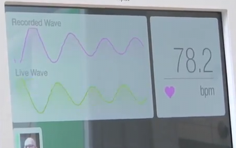 Fujitsu Prototype Takes Your Pulse Without Touching You