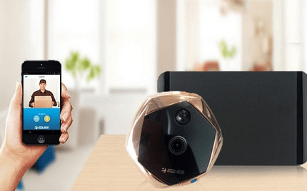 Ding Dong: Smart Peephole + Doorbell + Security Camera
