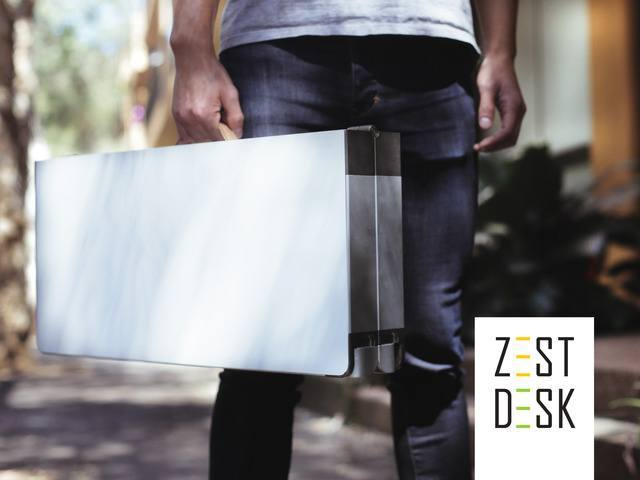 ZestDesk: Portable, Foldable, Adjustable Standing Desk