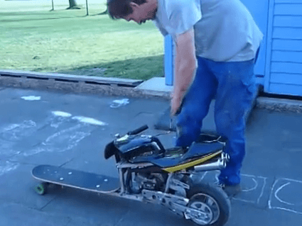 Skateboard + Mini Bike: Hybrid Skating