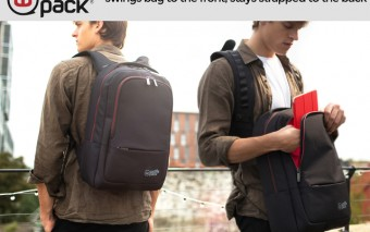 wolffepack: Backpack Swings To Front, Stays Strapped To Back