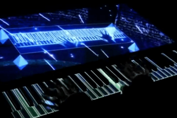 Projection Mapping on a Piano