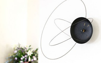 Orbits Clock with Rotating Hands