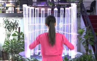 Kinect Interactive Fountain In Action