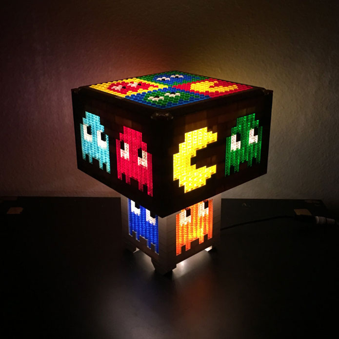 Looking To Get Your Hands On A Geeky LED Lamp? This Pac Man LEGO Lamp Is  Worth A Look. It Is Made With Over 4000 LEGO Pieces And Powered By A  100 LED ...