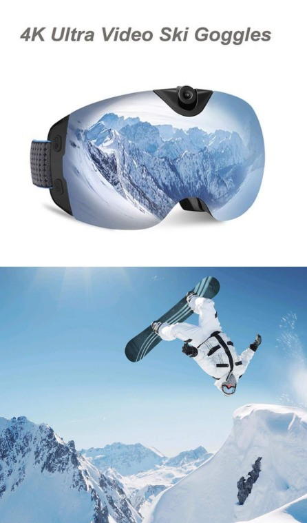 Oho 4k Ultra Hd Action Cam Ski Goggles